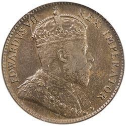 CYPRUS: Edward VII, 1901-1910, AE 1/4 piastre, 1905. NGC MS63