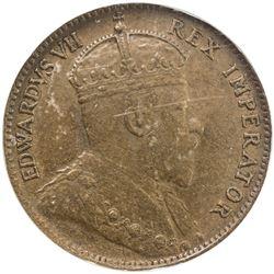 CYPRUS: Edward VII, 1901-1910, AE 1/4 piastre, 1905. NGC EF40