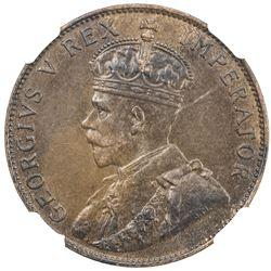 CYPRUS: George V, 1910-1936, AE piastre, 1930. NGC AU53