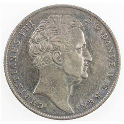 DENMARK: Christian VIII, 1839-1848, AR speciedaler, 1845. F-VF