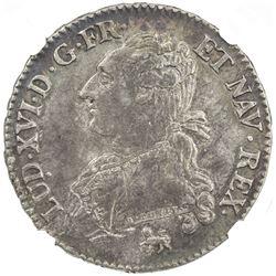 FRANCE: Louis XVI, 1774-1793, AR 1/2 ecu, Paris mint, 1791-A. NGC AU55
