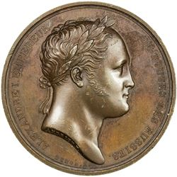 FRANCE: AE medal (36.19g), 1814. AU