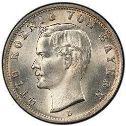 BAVARIA: Otto II, 1886-1913, AR 2 mark, 1903-D. PCGS MS64