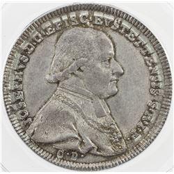 EICHSTADT: Josef, Graf von Stubenberg, 1790-1802, AR 1/2 thaler, 1796. ANACS AU50