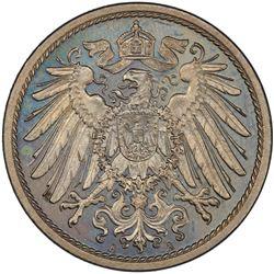 GERMANY: Wilhelm II, 1888-1918, 10 pfennig, 1908-A. PCGS PF66