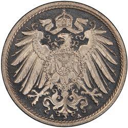 GERMANY: Wilhelm II, 1888-1918, 10 pfennig, 1909-A. PCGS PF66