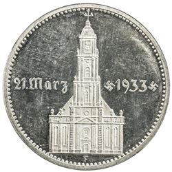 GERMANY: Third Reich, AR 5 reichsmark, 1934-F. PF
