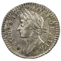 ENGLAND: James II, 1685-1688, AR penny, 1686. VF-EF