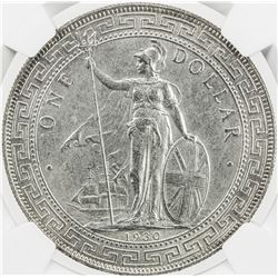 GREAT BRITAIN: George V, 1910-1936, AR trade dollar, 1930-B. NGC UNC