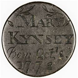 GREAT BRITAIN: AE medal, 1772. VF