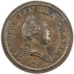 ISLE OF MAN: George III, 1760-1820, AE halfpenny, 1786. AU