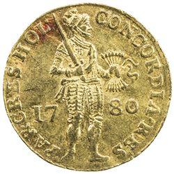 HOLLAND: AV ducat (3.44g), 1780. EF, slightly wavy flan