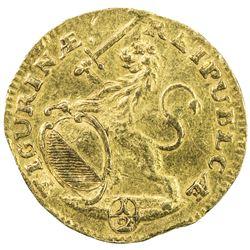 ZURICH: City, AV 1/2 ducat (1.67g), 1736. VF