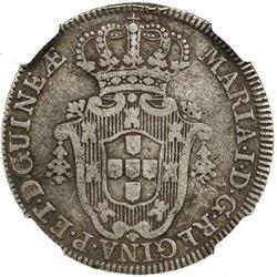 ANGOLA: Maria I, 1786-1799, AR 4 macutas, 1789. NGC VF