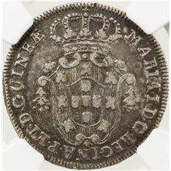 ANGOLA: Maria I, 1786-1799, AR 4 macutas, 1796. NGC VF