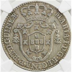 ANGOLA: Maria I, 1786-1799, AR 8 macutas, 1796. NGC VF