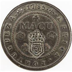 ANGOLA: Maria II, 1834-1853, AE 2 macutas, ND [1837]. NGC VF35