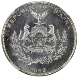 BIAFRA: Republic, AR pound, 1969. PCGS MS64