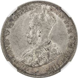 BRITISH WEST AFRICA: George V, 1910-1936, AR 2 shillings, 1915-H. NGC MS61