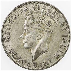 EAST AFRICA & UGANDA: George VI, 1936-1952, BI shilling, 1941-I. EF
