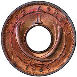 EAST AFRICA: Elizabeth II, 1952-, AE cent, 1959-KN. PCGS SP