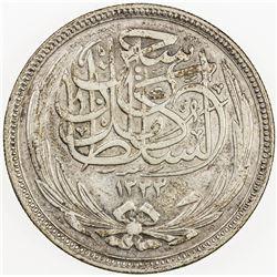 EGYPT: Hussein Kamil, 1914-1917, AR 20 qirsh, 1916/AH1335. EF