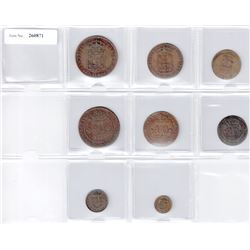 MOZAMBIQUE: LOT of 8 copper coins from João VI struck at the Rio de Janeiro mint