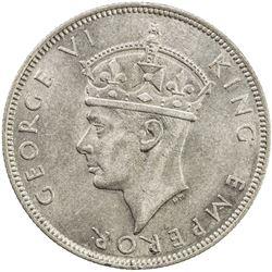 SEYCHELLES: George VI, 1936-1952, AR rupee, 1939. AU-UNC