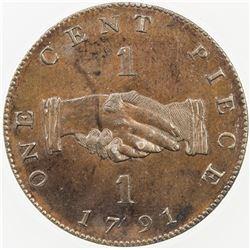 SIERRA LEONE: George III, 1760-1820, AE cent, 1791. ANACS PF58