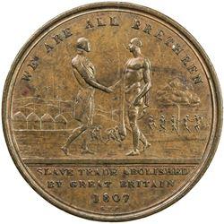 SIERRA LEONE: AE penny token, [1814]. VF