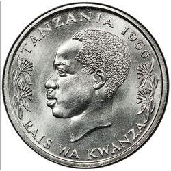 TANZANIA: Republic, 50 senti, 1966. PCGS SP