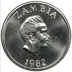 ZAMBIA: Republic, 10 ngwee, 1982. PCGS SP