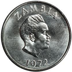 ZAMBIA: Republic, 20 ngwee, 1972. PCGS SP