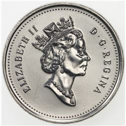 CANADA: Elizabeth II, 1952-, 25 cents (5.07g), 1999. UNC