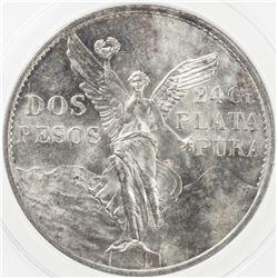 MEXICO: Estados Unidos, AR 2 pesos, 1921. ANACS MS61