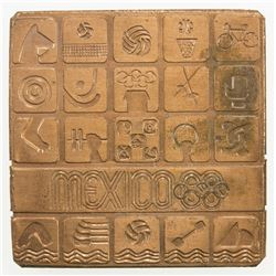 MEXICO: AE plaque (113.77g), [19]68. UNC