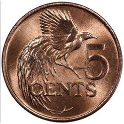 TRINIDAD & TOBAGO: Republic, AE 5 cents, 1981. PCGS SP