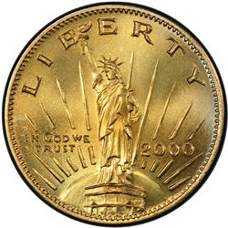 """UNITED STATES: AE dollar, 2000, Gallery mint """"Concept"""" series pattern dollar"""