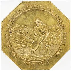 UNITED STATES: Imitation Fifty Dollar Gold Slug brass medal. ICG MS62