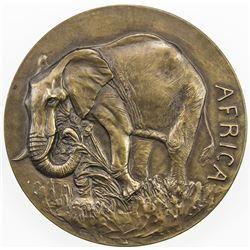 UNITED STATES:AE medal (172.6g), 1943. UNC