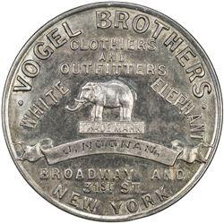 UNITED STATES:AR token (13.33g), 1893. EF