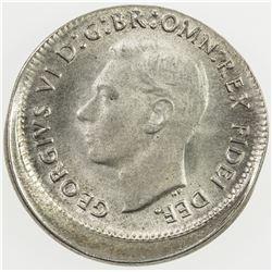 AUSTRALIA: George VI, 1936-1952, AR threepence, 1950(m). UNC