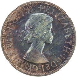 AUSTRALIA: Elizabeth II, 1952-, AE penny, 1956(m). NGC PF64