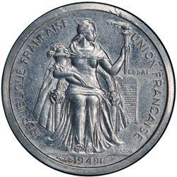 NEW CALEDONIA: 50 centimes, 1949. PCGS SP64