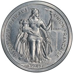 NEW CALEDONIA: 1 franc, 1949. PCGS SP63