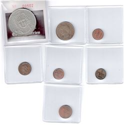 WORLDWIDE GROUP LOTS: EUROPE: LOT of 7 coins, retail value $400