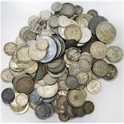 WORLDWIDE GROUP LOTS: LOT of 163 silver minor machine struck coins, an eclectic mix of types