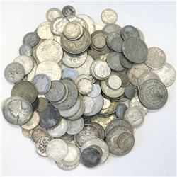 WORLDWIDE GROUP LOTS: LOT of 191 silver minor coins. retail value $1000