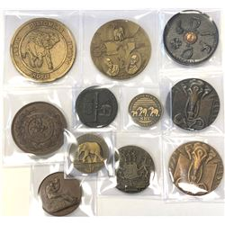 WORLDWIDE GROUP LOTS: LOT of 11 elephant medals, retail value $625