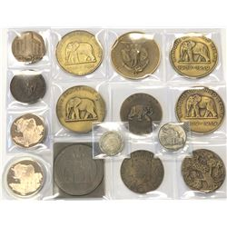 WORLDWIDE GROUP LOTS: LOT of 15 elephant medals, retail value $600